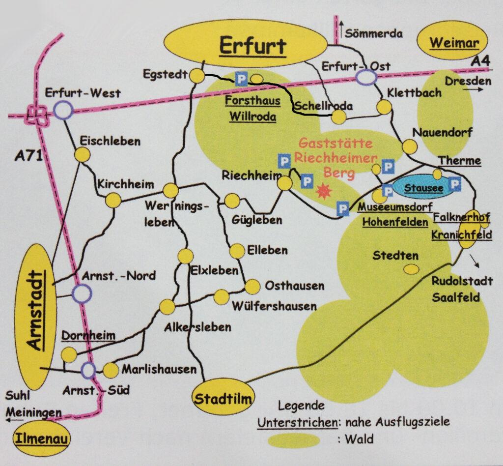 Kartenansicht für die Anreise
